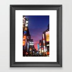 Shibuya Neon Framed Art Print