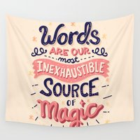 risa rodil Wall Tapestries featuring Source of Magic by Risa Rodil