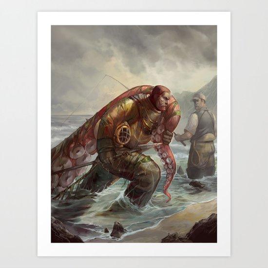 Diver's Haul Art Print