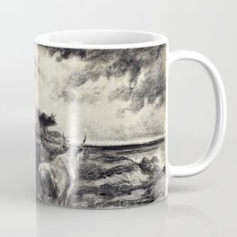 Rosa Bonheur - A Cowherd Driving Cattle - Digital Remastered Edition Coffee Mug