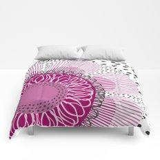 Pinky flower Comforters