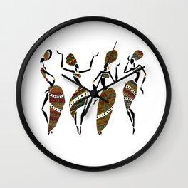 African Ladies Dancing Wall Clock
