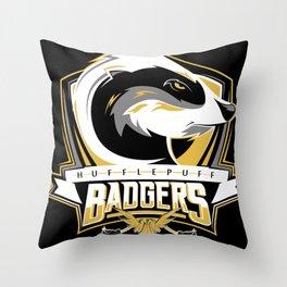 Hufflepuff Badgers Throw Pillow