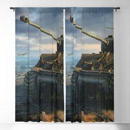 DDay Tank Battle Blackout Curtain