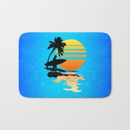Surfing Sunrise Bath Mat
