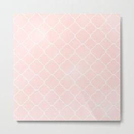 Blush Pink Coral Moroccan Metal Print