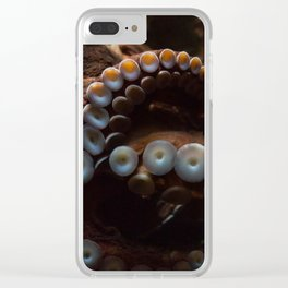 beware of octopus Clear iPhone Case