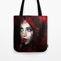 carmilla Tote Bags featuring Carmilla by BabsArtCreations