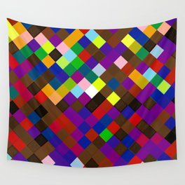 Progress Pride Checkered Squares Gradient Wall Tapestry