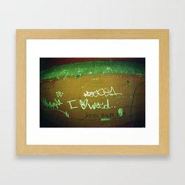 advil rules yo!! Framed Art Print