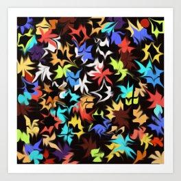 Splashes of Color Art Print