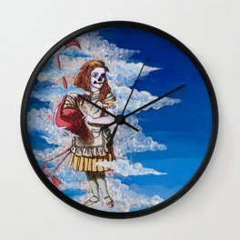 Alice in Clouds Wall Clock