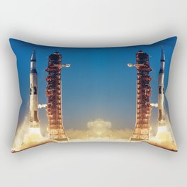 "Apollo Saturn V ""LIFTOFF"" 1967 Rectangular Pillow"