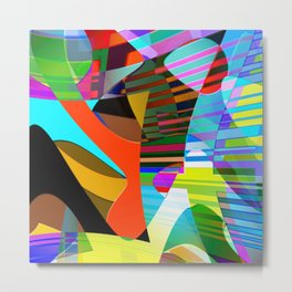 color squares. 3. 2018 Metal Print