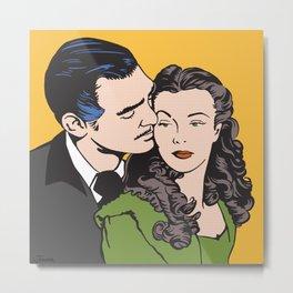 Rhett Butler and Scarlett O'Hara Metal Print