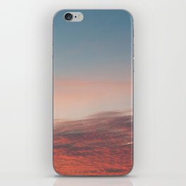 Dappled Peach Skies iPhone Skin