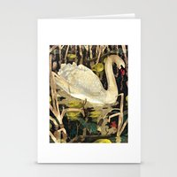 swan Stationery Cards featuring Swan by Lara Paulussen
