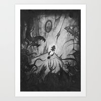 monsters Art Prints featuring Monsters by Michael Brack