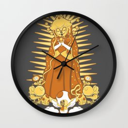 Holy Peach Day of the Dead Tribute Wall Clock