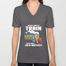 Kids train children locomotive - express train Unisex V-Neck