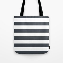 Charcoal Stripes Tote Bag
