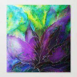 Purple Leaf Canvas Print