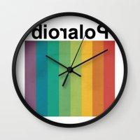polaroid Wall Clocks featuring POLAROID by WordsnStripes