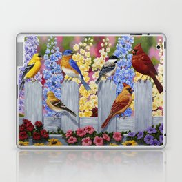 Spring Garden Party Birds and Flowers Laptop & iPad Skin