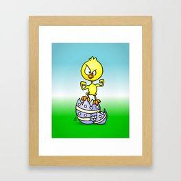 Easter Chick Framed Art Print