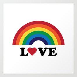 70's Love Rainbow Art Print