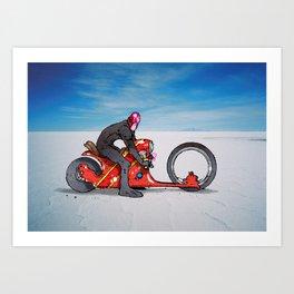 red dredd racer Art Print