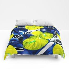 Anthurium yellow Comforters