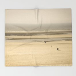 Beach of Le Touquet Paris-plage Throw Blanket