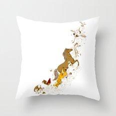 Magic paintbrush Throw Pillow