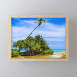 Tabuaeran, Fanning Island, Republic of Kiribati. Framed Mini Art Print