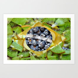 Healthy Brazil Flag design Art Print