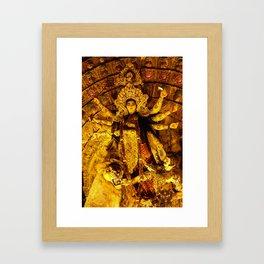 Goddess Durga Framed Art Print