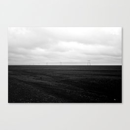 Iceland Powerlines Canvas Print