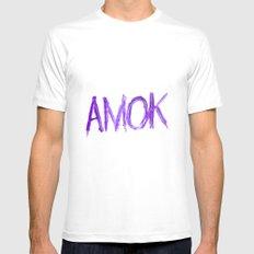 Amok Mens Fitted Tee White MEDIUM