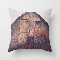 She Created Stories About Abandoned Houses Throw Pillow