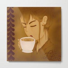 Latte Love  Metal Print