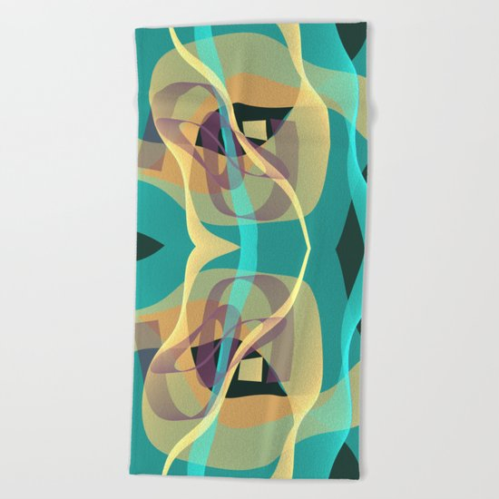 Floating in turquoise Beach Towel