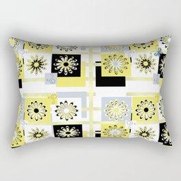 Flowers Squared Shower Curtain Rectangular Pillow