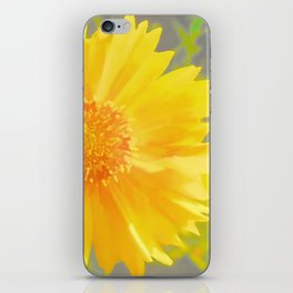 Yellow Wildflower - Coreopsis iPhone Skin