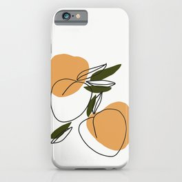 The peaches - Modern abstract art illustration iPhone Case