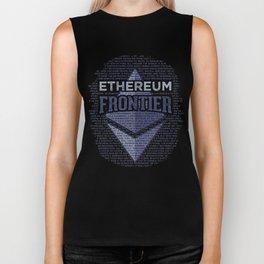 Ethereum Frontier Grunge original on dark blue Biker Tank