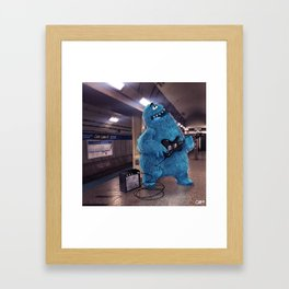 Blue Line Blues Framed Art Print