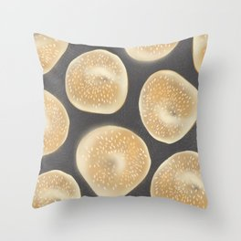 Foochow Bagels Throw Pillow