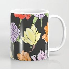 dark crowded floral Coffee Mug