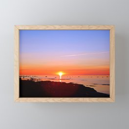 Kayak Silhouette at Sunset Framed Mini Art Print